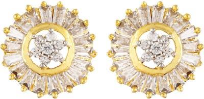 Fashionage ethnic Brass Stud Earring