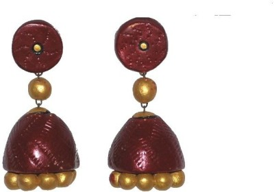 Aanya Creations Handmade Ceramic Jhumki Earring