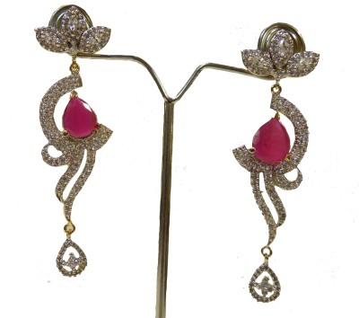 Aakhya EAR14 Diamond Rose Gold Drop Earring