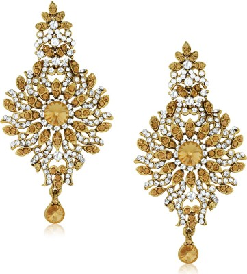 Spargz Designer Princes Studded with Diamond Alloy Chandelier Earring