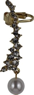 Adorno la Crystal Alloy Cuff Earring