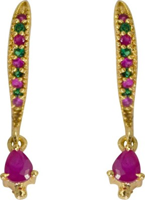 Jewelgrab Sai Ruby Emr Alloy Drop Earring