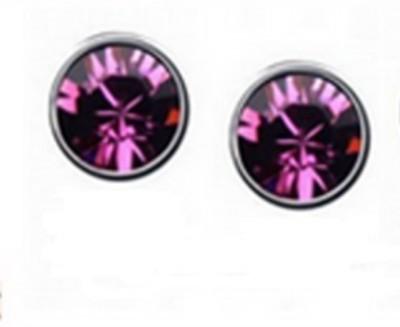 Ark Ark Crystal Stud Earring Purple Alloy Stud Earring