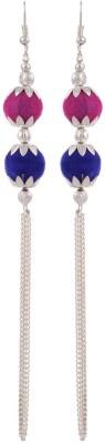 Heartzy Silver Plated Dangle & Drop Designer Fashion Chain Earrings Alloy Drop Earring