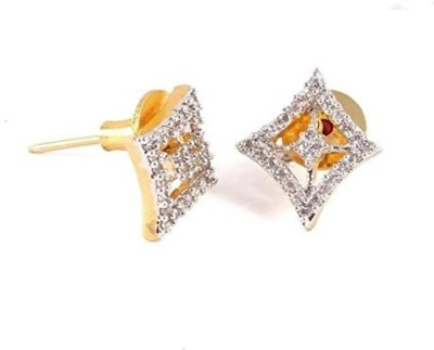 Vanshika Jewels SQUARE SHAPED AMERICAN DIAMOND STUDDED Alloy Stud Earring