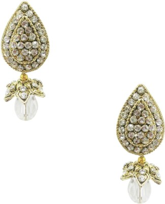 Taruni Taruni White Drop Earrings. Alloy Drop Earring