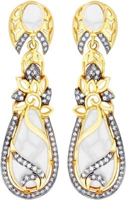 Peora Pear Shaped Brass Drop Earring