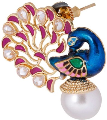 Nakashi Peacock Multicolour Zircon Alloy Stud Earring