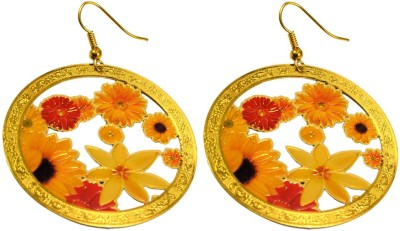 Krishna Mart A Pair Of Indian Boho Danglers Earrings Brass Dangle Earring