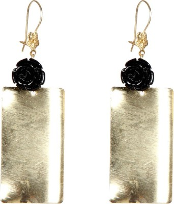Envy Gold Flat Plate Brass Dangle Earring