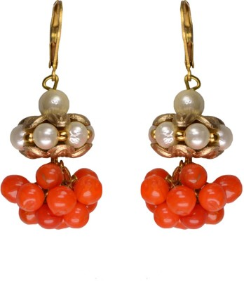 Rasaam Small lollypop orange Beads Alloy Drop Earring
