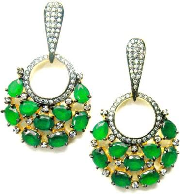 E-Designs ERG86GP100-2520 Cubic Zirconia Alloy Chandelier Earring