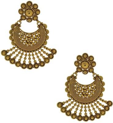 Anuradha Art Golden Polished Alloy Chandelier Earring