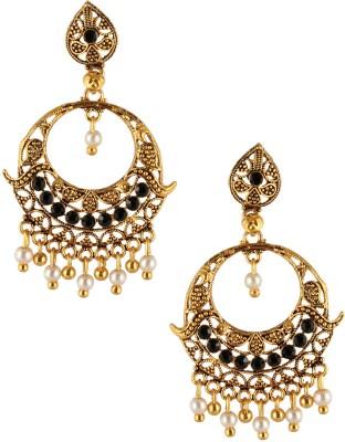 Fashionaya China Gold Cubic Zirconia Brass Drop Earring