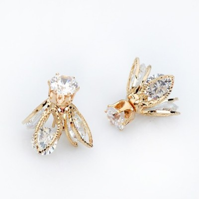 The Sparkle Connection Fire Fly Cubic Zirconia Alloy Stud Earring