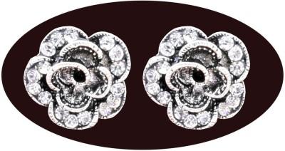 Indian Cheez Diamond Flower Earrings Metal Earring Set