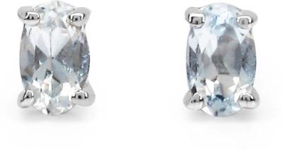 Johareez Fashionable Topaz Sterling Silver Stud Earring