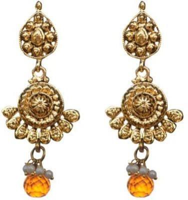 ACW Gold Plated Orange Drop Earrings for Women Alloy Drop Earring