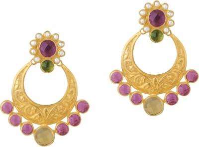 Mehtaphor Lacina Brass Chandbali Earring