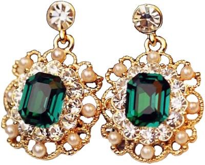 Ruvee Vintage Emerald Mirage Alloy Drop Earring