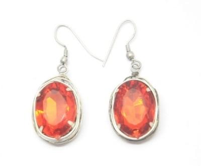 CFM Single stone Glass Drop Earring