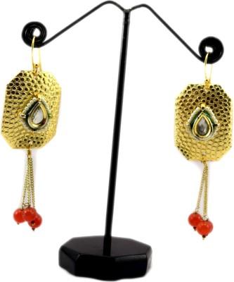 Bharat Sales Designer with pearls Cubic Zirconia Copper Tassel Earring