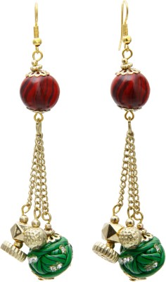 Galz4ever Exclusive Lakh Bead Alloy Drop Earring