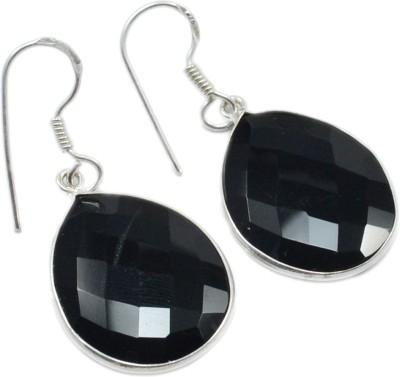 Silvesto India 1470 Onyx Sterling Silver Drop Earring