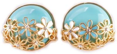 Gi De Meo Turquoise Flower Alloy Stud Earring