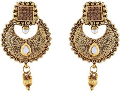 Jewlot Dazzle Kundan 1075 Metal Chandbali Earring