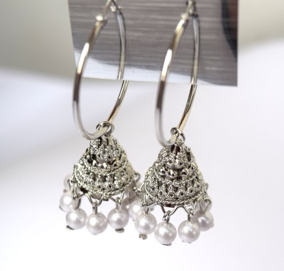 Neelam fashions And Accessories Light weight silver color neel700030a Alloy Jhumki Earring