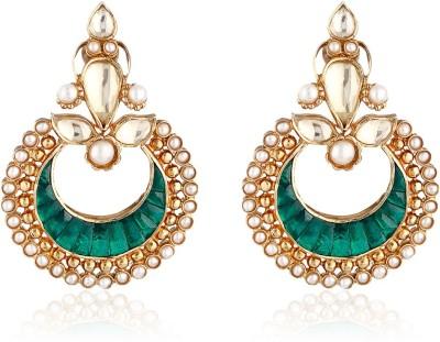 Aarohee Traditional Sparkle Sterling Silver Chandbali Earring