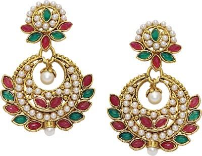 Aarnaa Simple Pearl Drop Earing Alloy Chandelier Earring