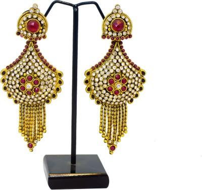 Supreme Art Jewellers Stylish Maroon Color Copper Drop Earring