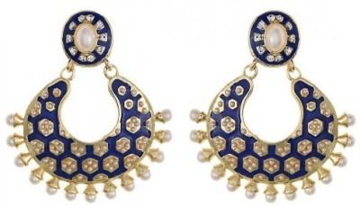 Amroha Crafts Blue Tradtional Matka Alloy Drop Earring