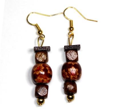 Karukala WOOD-4 Wood Dangle Earring