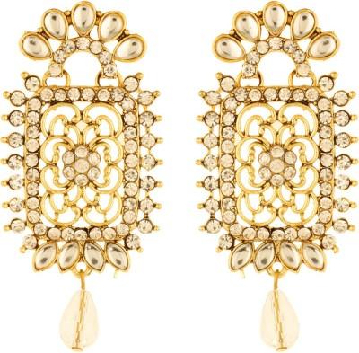 Bling N Beads ethnic partywear indian Silver, Alloy Chandelier Earring