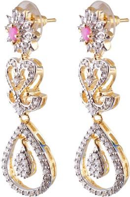 Exotica CZ Cubic Zirconia Copper Drop Earring
