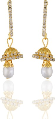 One Stop Fashion Pretty and Pleasing Gold Plated Alloy Earring Hanging Alloy Jhumki Earring