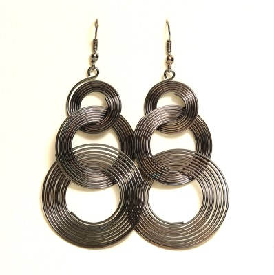 Medallion Collection Hangings Alloy Hoop Earring