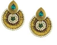 Luxor Designer Green Color Earrings Diamond Alloy Dangle Earring