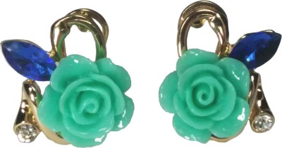 Krazzy Collection Spring Sparkle Alloy Clip-on Earring