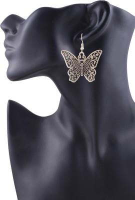 Arittra Butterfly Style German Silver Dangle Earring