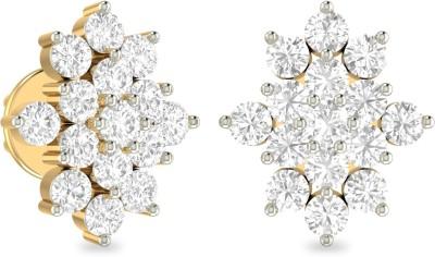 WearYourShine by PCJ The Kellyn Yellow Gold 18kt Diamond Stud Earring