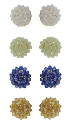 FreshMe Fashion Jewellery Crystal Alloy Earring Set