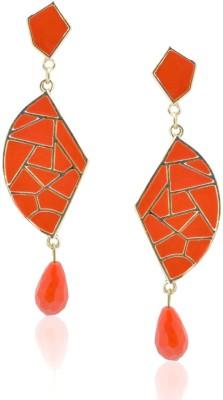 Amroha Crafts Mosaic Tangerine Beaut Alloy Drop Earring