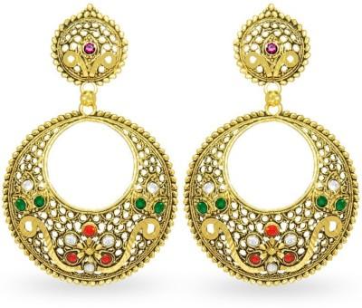 Big Tree Indian Charm Brass Chandbali Earring