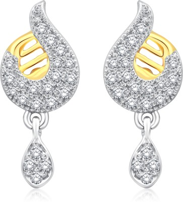 Classic Passion Gold And Rhodium Plated Earrings for Women [CJ1003ERG] Cubic Zirconia Alloy Drop Earring