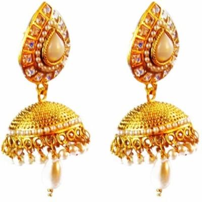 Ratnaraj India Touchstone Princess Delight Wearing Copper Jhumki Earring