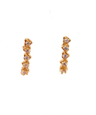 PFJ PFJ3050-EARRING Cubic Zirconia Brass, Copper Drop Earring